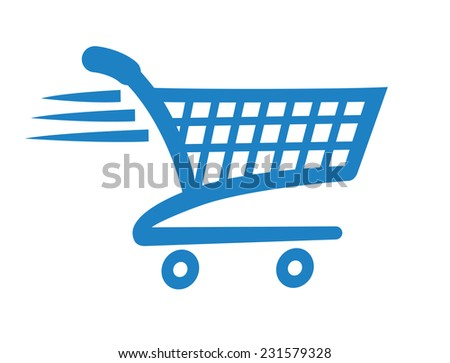 Cart icon for shopping Check Out Icon - stock photo