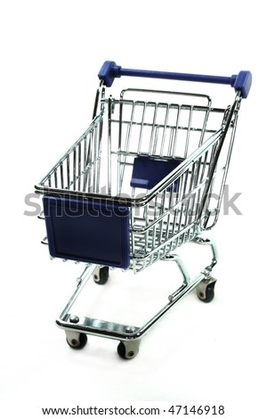 Cart on a white background