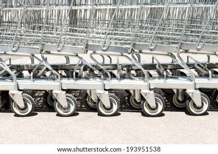 Cart , Shopping Cart ,Outdoor cart , Cart green , Wheel cart - stock photo