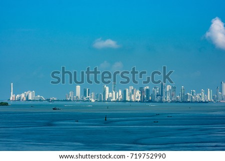 Cartagena, Colombia from sea