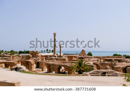 Carthago (Carthage), ruins of capital city of the ancient Carthaginian civilization. UNESCO World Heritage Site. Tunis, Tunisia.