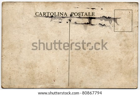 Cartolina Postale, early 1900 Italian postcard - stock photo