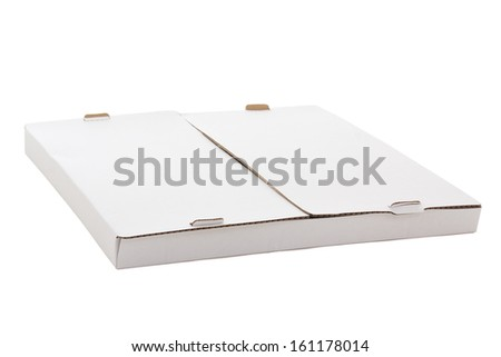 carton box for pizza isolated on white background - stock photo