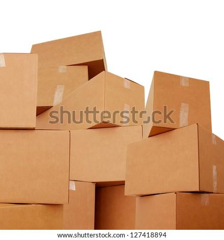 Carton boxes - stock photo