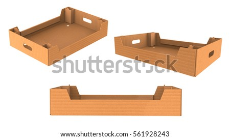 Brown wooden box crate full of fresh vegetables. Natural and healthy food. Organic products. Crop from farm. Cartoon style icon. Colorful vector illustration in flat style isolated on white background. Download a Free Preview or High Quality Adobe Illustrator Ai, EPS, .
