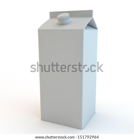 Carton illustration, drink container - stock photo