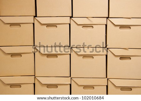 Cartons packaging for transport. - stock photo