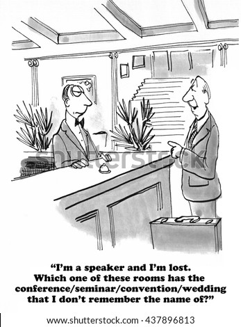 Cartoon about a very lost speaker.