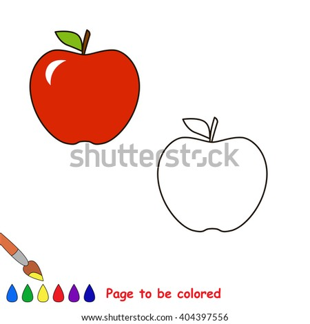 Cartoon Apple Be Colored Coloring Book Stock Illustration 404397556 ...