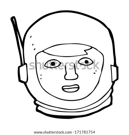 cartoon astronaut head