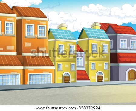 Cartoon background - illustration for the children - stock photo