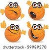 Cartoon basketball ball - stock