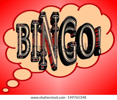Cartoon bingo illustration - stock photo