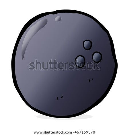 cartoon bowling ball