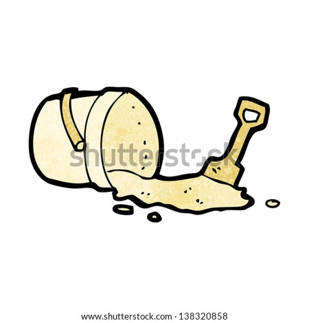 cartoon bucket and spade - stock photo