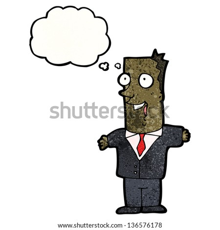 cartoon businessman with great idea