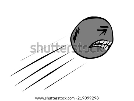 cartoon cannonball - stock photo