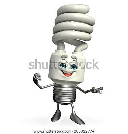 Cartoon Character of CFL is presenting - stock photo