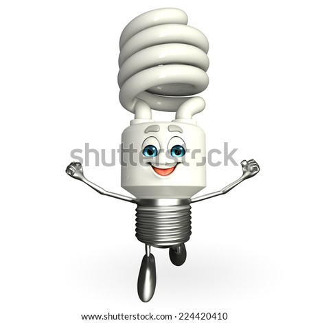 Cartoon Character of CFL is running - stock photo