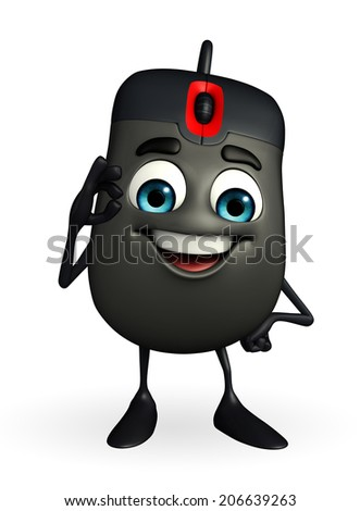 Cartoon Character of Computer Mouse with best sign