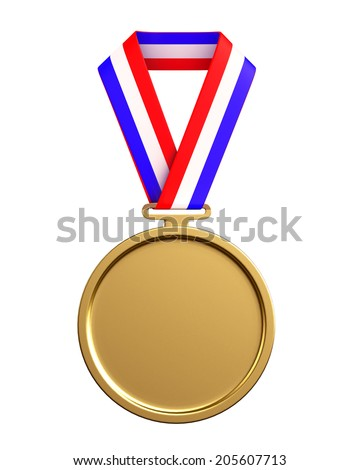 Cartoon Character of gold medal
