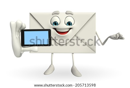 Cartoon character of mail  - stock photo