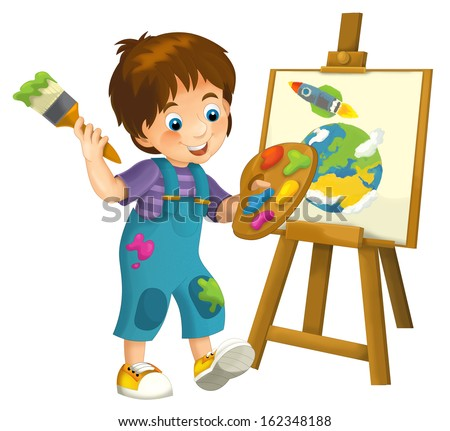 Cartoon child isolated - illustration for the children - XXL file