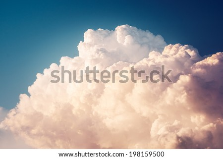 Cartoon clouds in happy day
