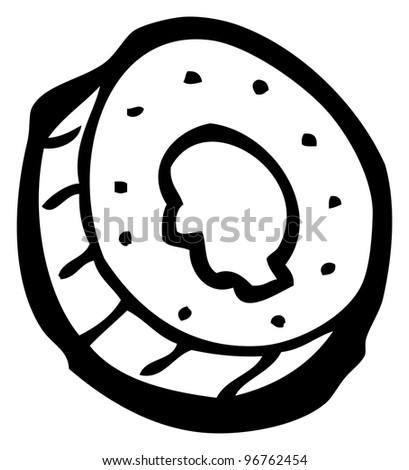 cartoon coin - stock photo