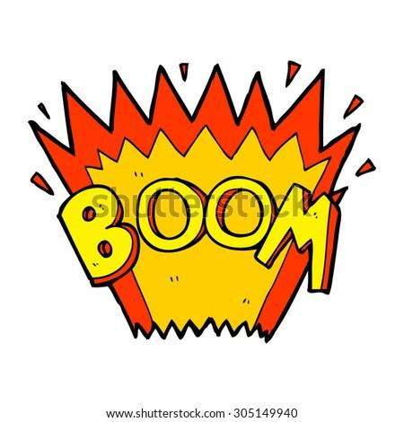 cartoon comic book explosion - stock photo