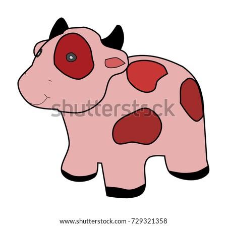 Cartoon cow.