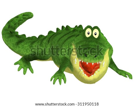 Cartoon 3d crocodile