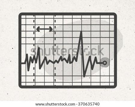 cartoon electrocardiogram - stock photo