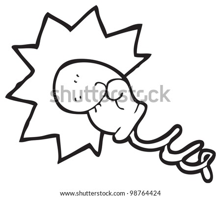 cartoon fake boxing glove on spring - stock photo