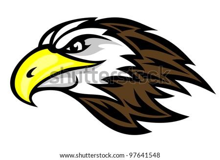 Cartoon falcon head for mascot or tattoo design  such a logo  Vector    Falcon Head Logo