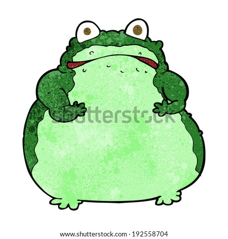 cartoon fat frog