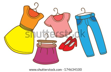 cartoon female clothing