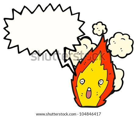 cartoon fire character