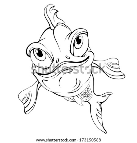 Shark stock vector 92731414 shutterstock for Cartoon fish drawing