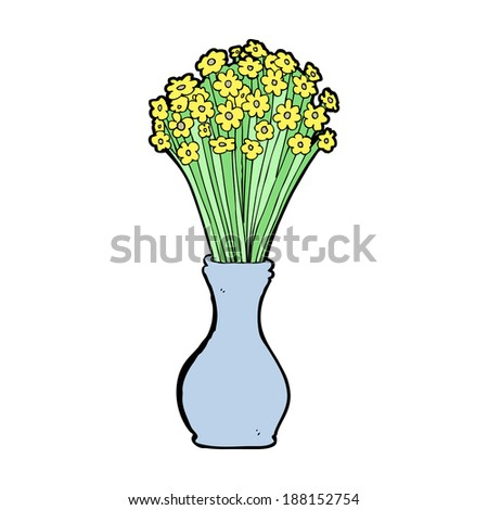 cartoon flowers in pot