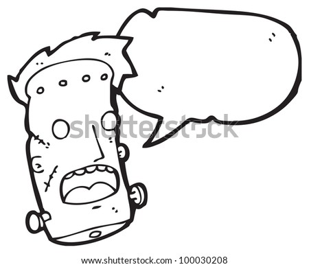 cartoon frankenstein monster head - stock photo
