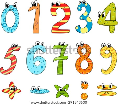 Cartoon funny numbers