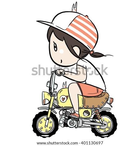 Bikestickers Stock Images RoyaltyFree Images Vectors - Car sticker decal for girlsgirl motorcycle promotionshop for promotional girl motorcycle on