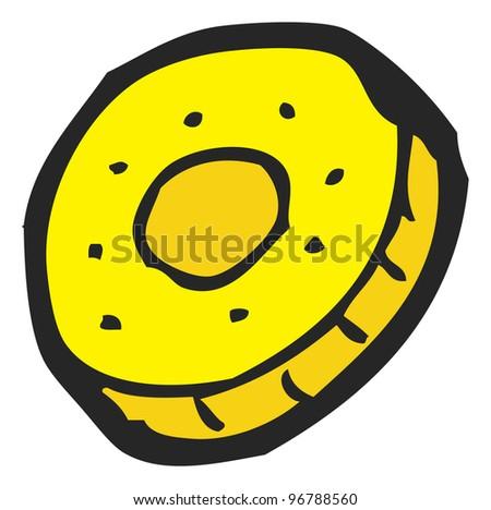 cartoon gold coin - stock photo