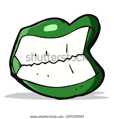 cartoon grinning halloween mouth