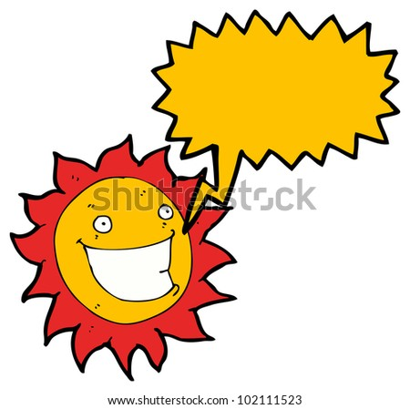 cartoon grinning sun cartoon