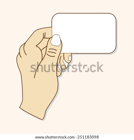 cartoon hand holding paper