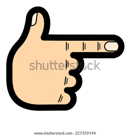 cartoon hand showing thumb - stock photo