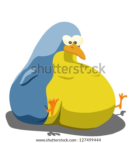 Funny Cartoons Birds Cartoon Illustration of Funny