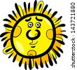 Cartoon Illustration of Funny Sun Comic Mascot Character - stock vector